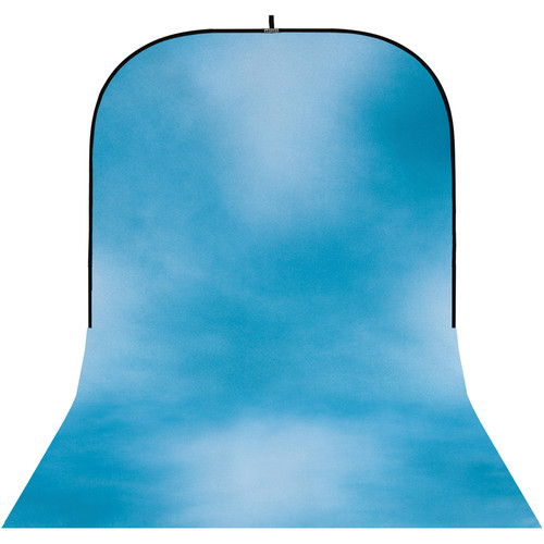 Botero #031 Super Collapsible Background (8x16', Dark Blue, Blue, White)