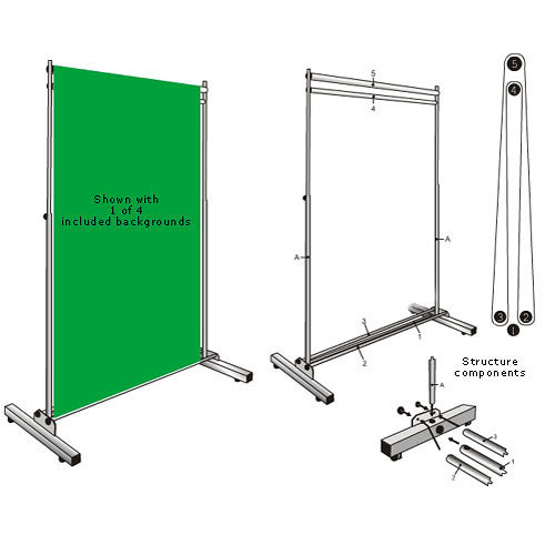 Botero 5x7' Rotary Background Support System