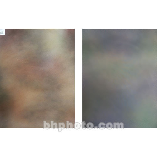 Botero Double-Sided Muslin Background (10 x 24', Brown, Yellow, & Gray / Green Violet, & Gray)