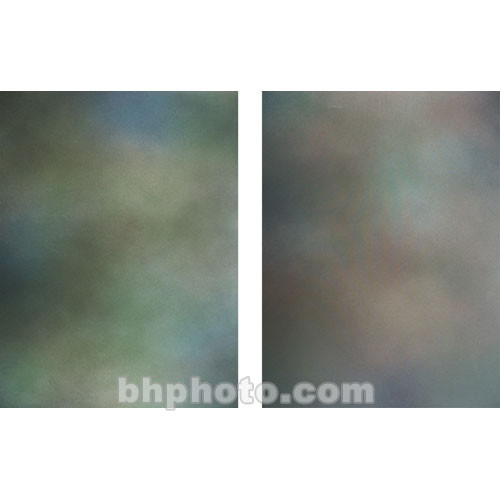 Botero Double-Sided Muslin Background (10 x 24', Blue, Green, Gray / Brown, Maroon)