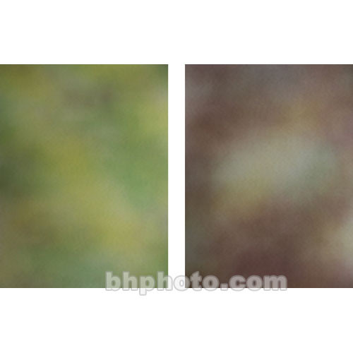 Botero Double-Sided Muslin Background (10 x 24', Green, Yellow / Emerald, Orange, Yellow & Violet)