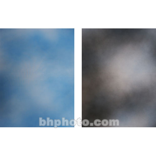 Botero Double-Sided Muslin Background (10 x 24', Sky Blue, White / Blue, Gray & White)