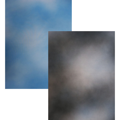 Botero Double-Sided Muslin Background (10 x 12', Sky Blue, White / Blue, Gray, & White)