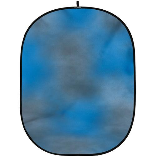 Botero #004 CollapsibleBackground (5x7') (Blue, Grey)