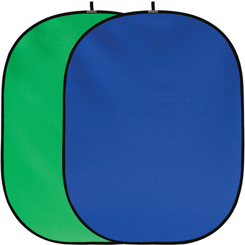 Botero #036 Collapsible Reversible Background - 5x7' - Chroma-Key Blue/Green