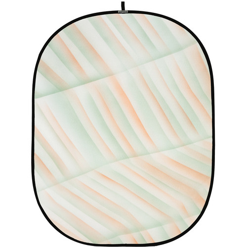Botero 054 Collapsible Background (5 x 7', Green, Orange, White)