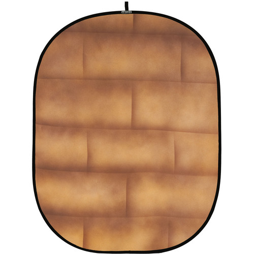 Botero 057 Collapsible Background (5 x 7', Brick Brown, Beige)