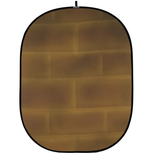 Botero 069 Collapsible Background (5 x 7', Brick Brown, Yellow)