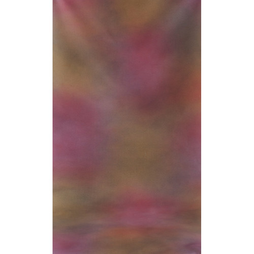 Botero #002 Muslin Background (10x24', Maroon, Orange, Pink, Violet)