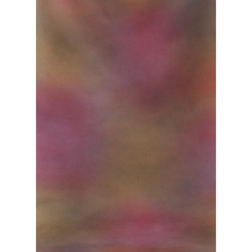 Botero #002 Muslin Background for the Rotary System (5x7', Maroon, Orange, Pink, Violet)
