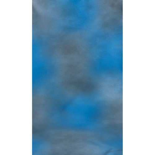 Botero #004 Muslin Background (10x24', Blue, Gray)