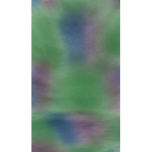 Botero #007 Muslin Background (10x12', Green, Blue, Violet)