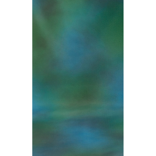Botero #009 Muslin Background (10x12', Green, Blue, Gray)