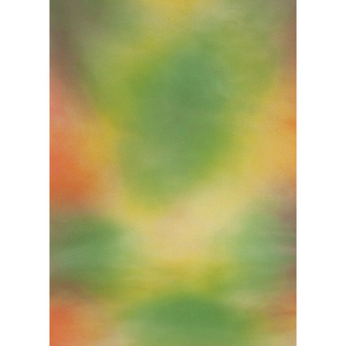 Botero #013 Muslin Background for the Rotary System (5x7', Yellow, Orange, Brown, Green)