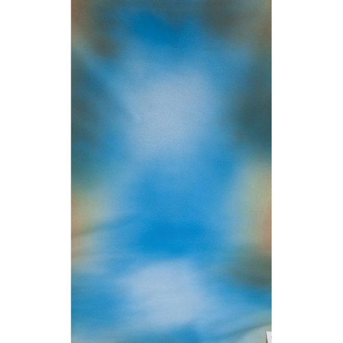Botero #015 Muslin Background (10x24', Maroon, White, Blue, Gray)