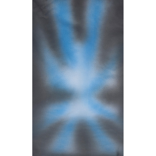 Botero #030 Muslin Background (10x12', Gray, Blue, White)