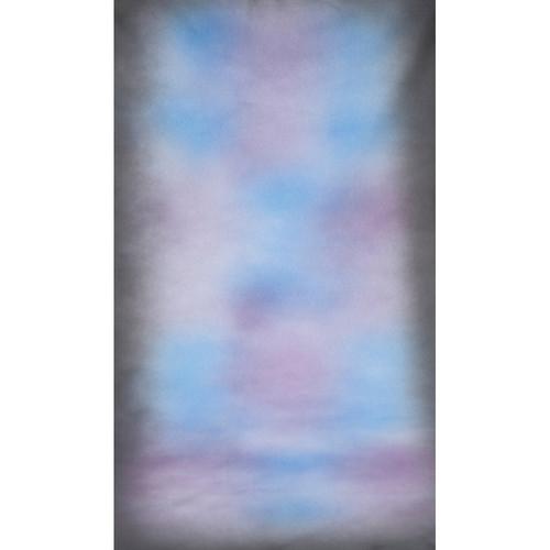 Botero #033 Muslin Background (10x24', Dark Grey, Blue Center)