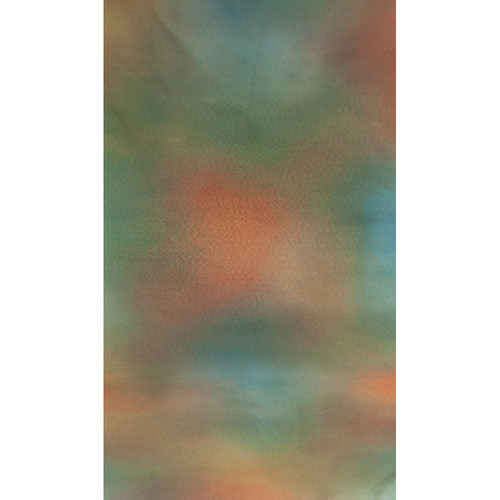 Botero #041 Muslin Background (10x24', Emerald, Orange, Brown, Blue)