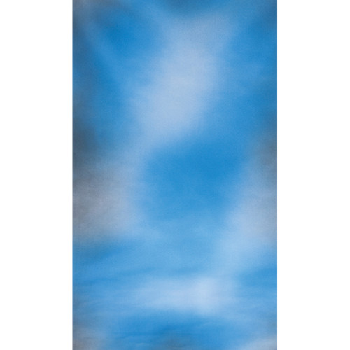 Botero #045 Muslin Background (10x24', White, Blue, Gray)