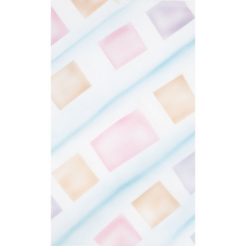 Botero #058 Muslin Background (10 x 12', White, Pink, Yellow, Blue )