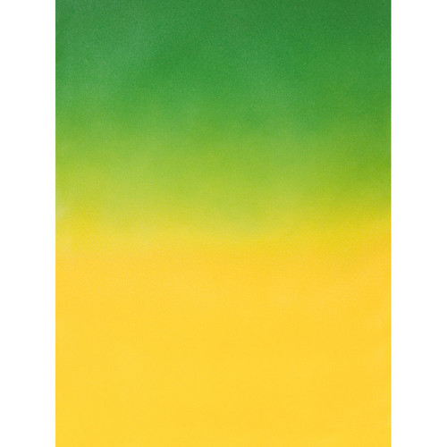 Botero #401 Muslin Graduated Background (5 x 7', Dark Green, Yellow)