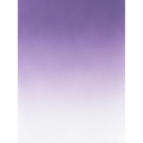 Botero #405 Muslin Graduated Background (5 x 7', Purple, White)