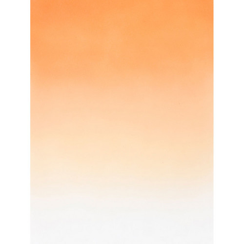 Botero #411 Muslin Graduated Background (5 x 7', Orange, White)