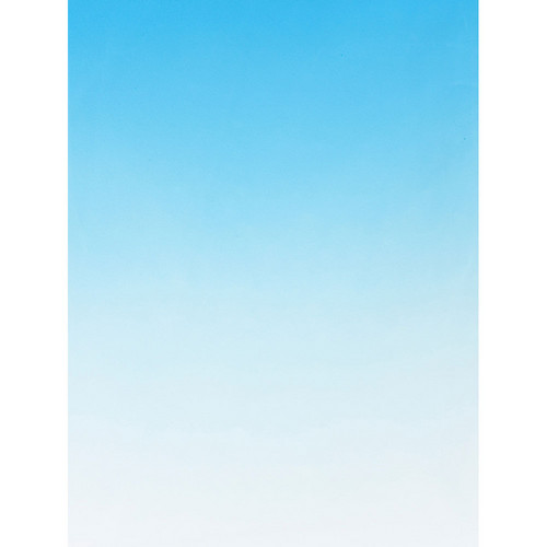 Botero #413 Muslin Graduated Background (5 x 7', Sky Blue, White)