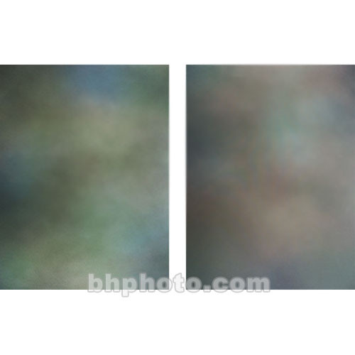 Botero Double-Sided Muslin Background (10 x 12', Blue, Green, & Gray / Brown, Maroon)