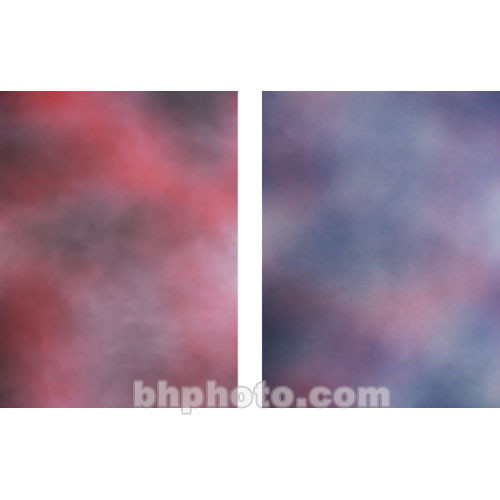 Botero Double-Sided Muslin Background (10 x 12', Fuchsia, Gray / Violet, Pink)