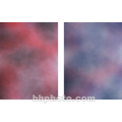Botero Double-Sided Muslin Background (10 x 24', Fuchsia, Gray / Violet, Pink)