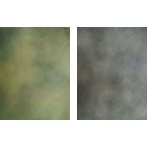 Botero Double-Sided Muslin Background (10 x 12', Yellow Dark Gray / Dark Gray, Dark Brown)