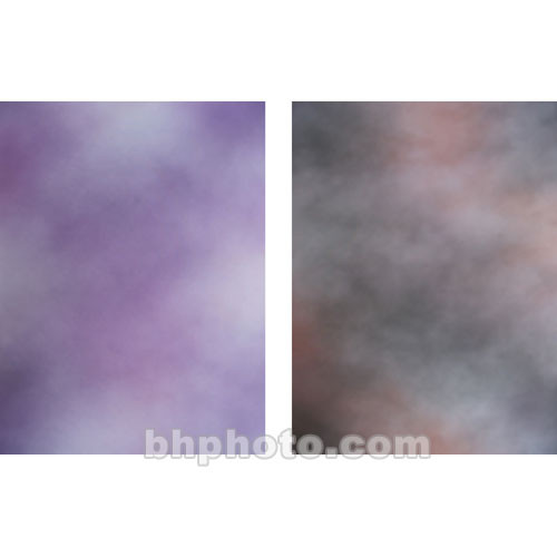 Botero Double-Sided Muslin Background (10 x 24', Pink, Dark Gray / Violet, Pink)
