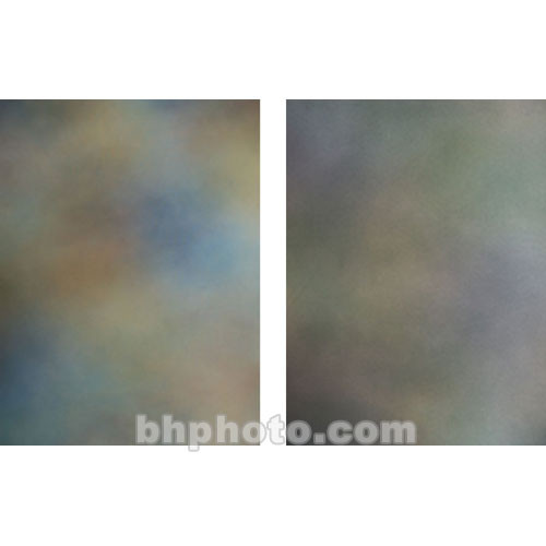 Botero Double-Sided Muslin Background (10 x 24', Blue, Orange, Yellow & Green / Green, Yellow & Blue)