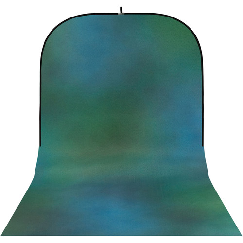 Botero #009 Super Collapsible Background (8x16', Green, Blue, Gray)