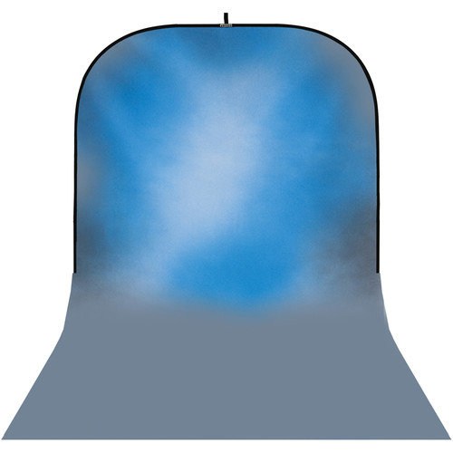 Botero #045 Super Collapsible Background (8x16', White, Blue, Gray)