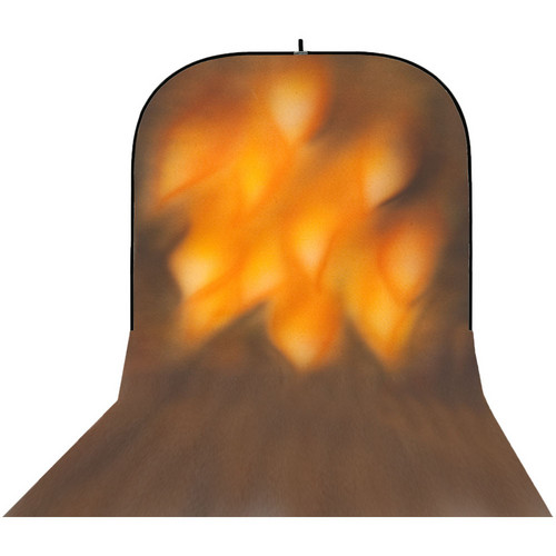 Botero 064 Supercollapsible Background (8 x 16', Brown, Fire)
