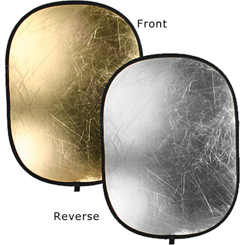 "Bowens Oval Reflector Disc - 36x48"" - Silver/Gold"