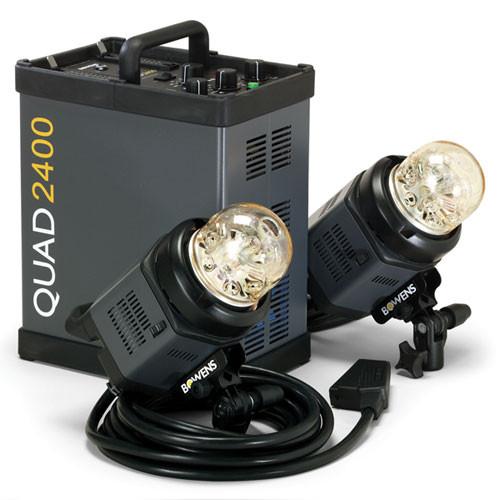 Bowens QUAD 2400 Two Head Studio Set (110-240V)