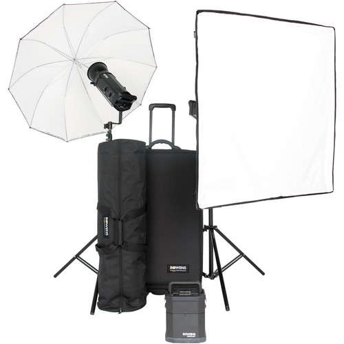 Bowens Gemini 1000Pro 2 Light Travelpak Kit with Pulsar Tx/Rx Radio Remote (90-250V)
