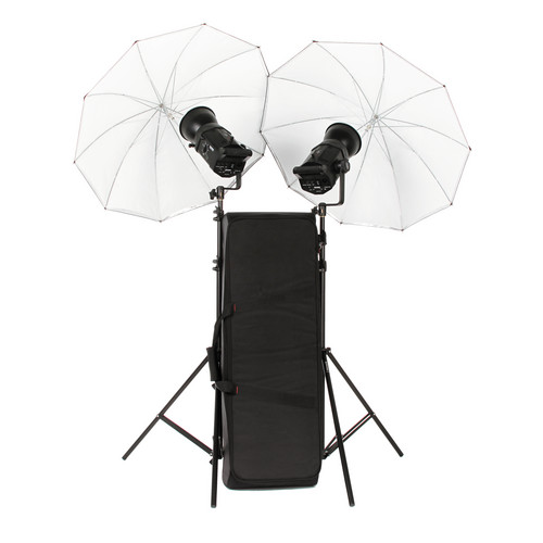 Bowens Gemini 200Rx 2 Light Umbrella Monolight Kit (120VAC/12VDC)