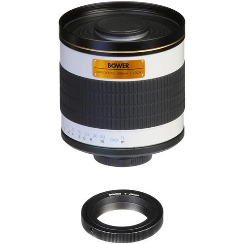 Bower 500mm f/6.3 Manual Focus Telephoto Lens for Nikon