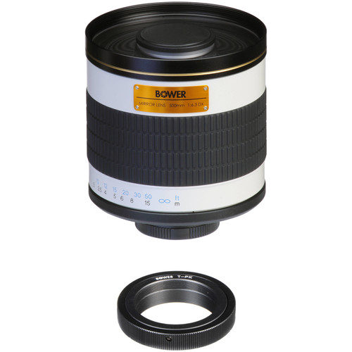 Bower 500mm f/6.3 Manual Focus Telephoto Lens for Pentax
