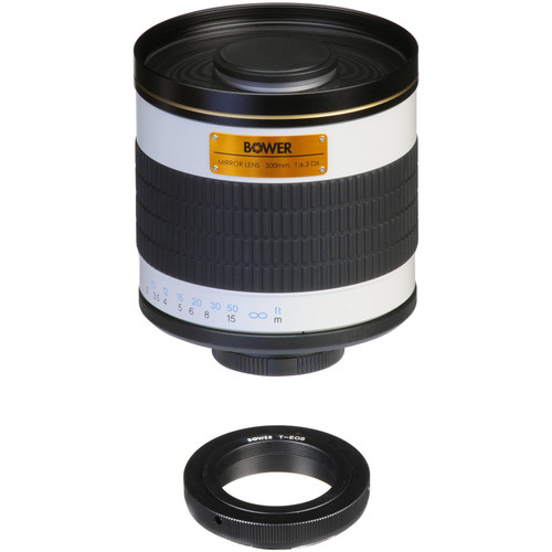 Bower 500mm f/6.3 Manual Focus Telephoto Lens for Canon EOS