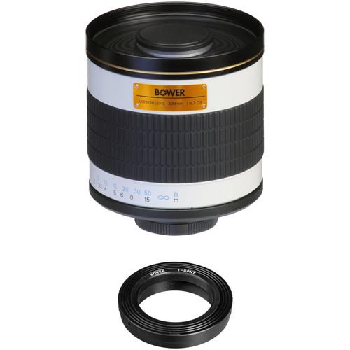 Bower 500mm f/6.3 Manual Focus Telephoto Lens for Sony/Minolta