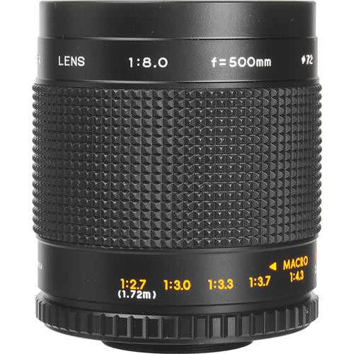 Bower 500mm f/8.0 Manual Focus Telephoto Lens for Pentax Screw Mount (M42)