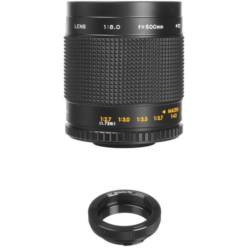Bower 500mm f/8.0 Manual Focus Telephoto Lens for Minolta MD