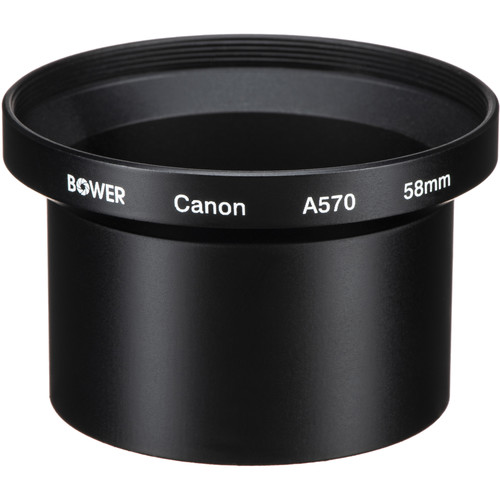 Bower 58mm Conversion Adapter Tube for Canon A570/A590