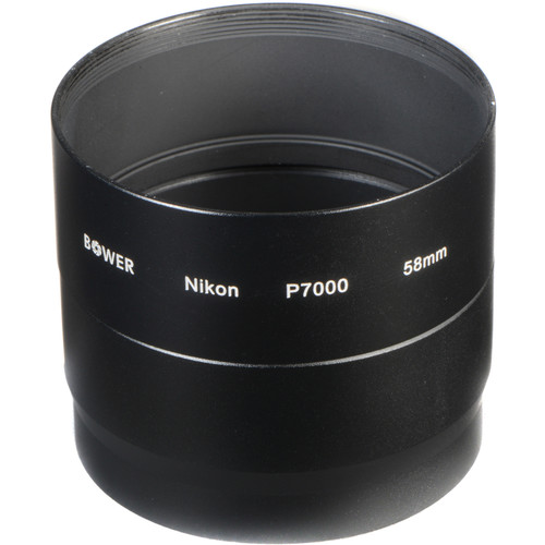 Bower 58mm Adapter Tube for Nikon COOLPIX P7000 / P7100 Digital Cameras