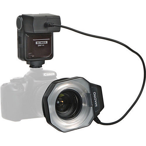 Bower SFDRL14C TTL Macro Ringlight Flash (Guide No. 46'/14 m at 50mm) for Canon EOS with E-TTL II